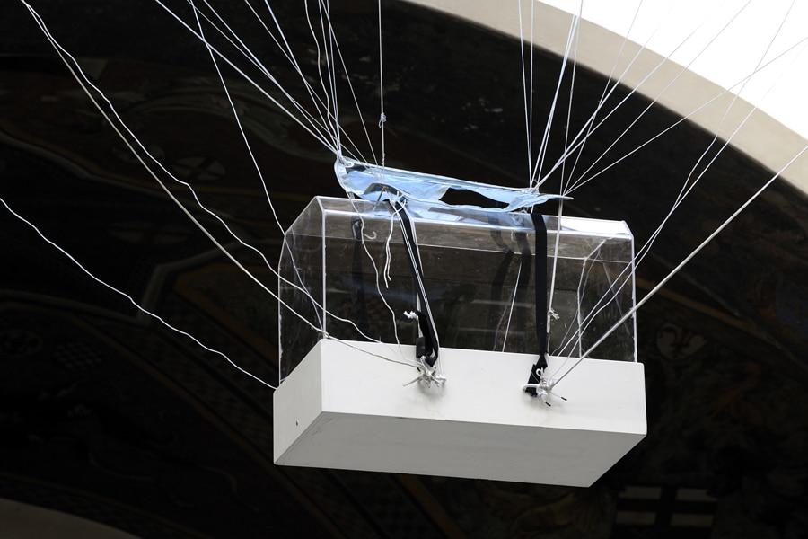Born on the Moon, 2009 (detail) | installation | francesco di tillo